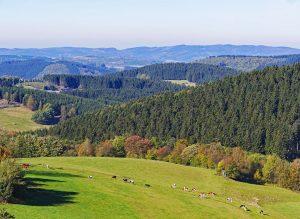 Mittelgebirge aussicht