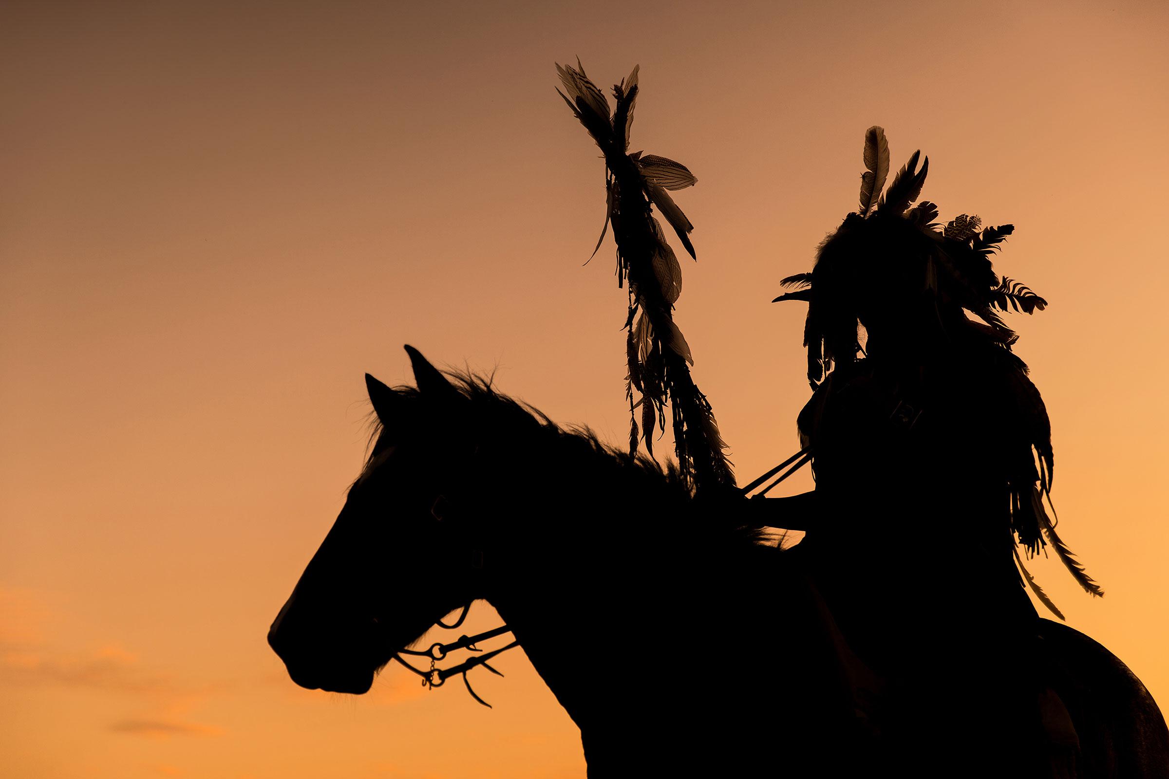 Indianer auf Pferd