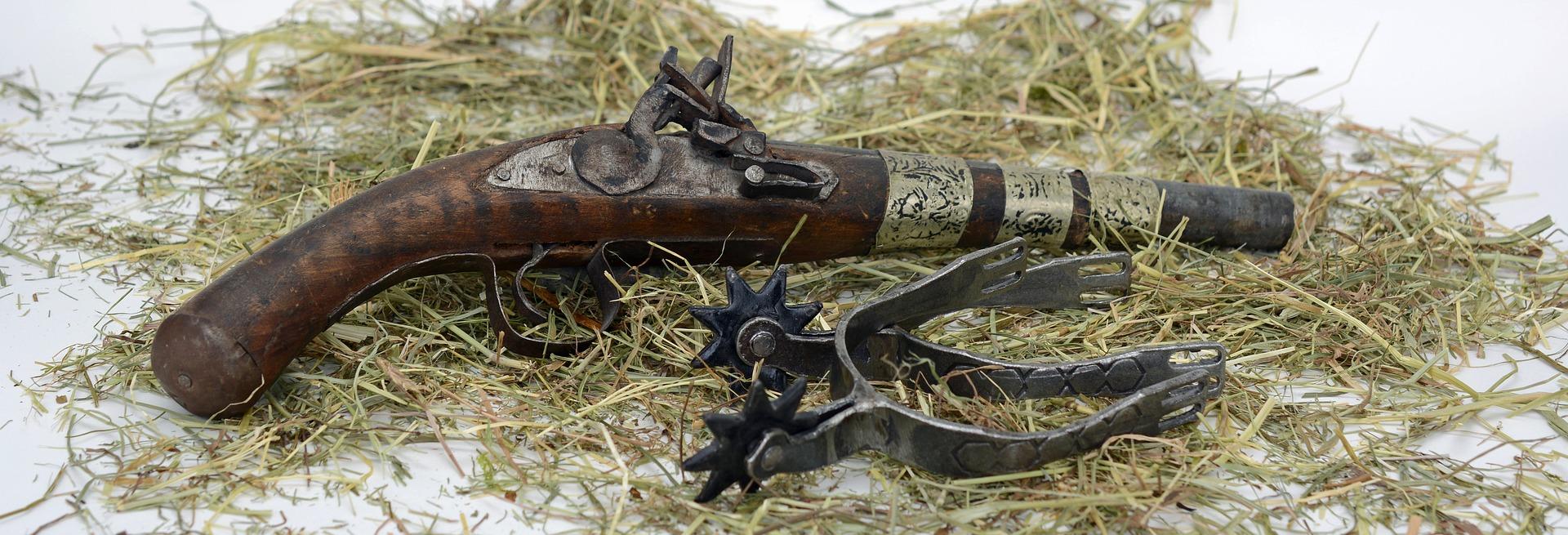 Pistole und Sporen - Handwerkszeug der Cowboys im Wilden Westen