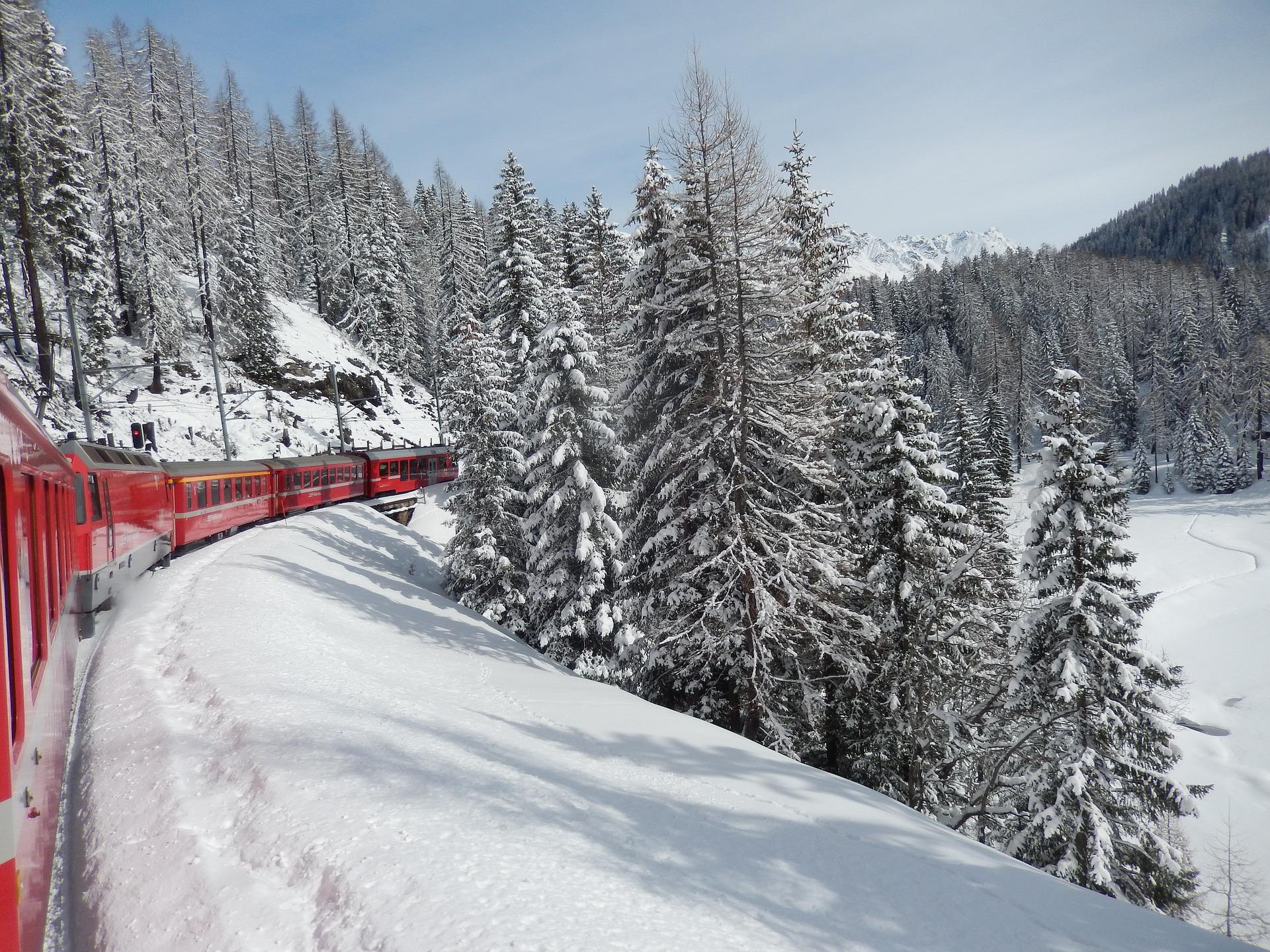 Zugfahrt durch Tessin - auch im Winter eine gute Idee