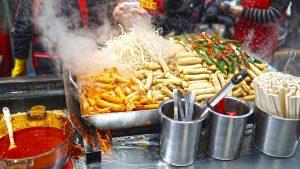 Essen auf einen Streetfood-Markt