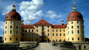 Eingang des Schloss Moritzburg