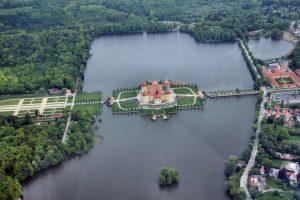 Schloss Moritzburg von oben