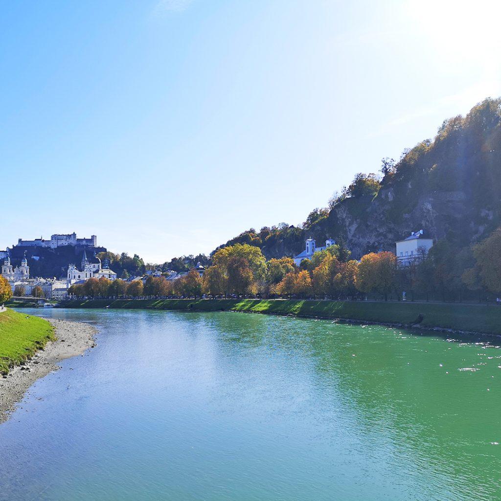 Salzach mit Festung | Salzburg